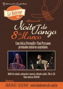 Foto 0 en  - Noite de Tango no La Boheme, hoje!
